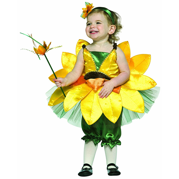 2016 hot sale sunflower fancy dress costumes