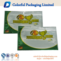 Wholesale Custom Printed Plastic Fishing Baits/Lure Packing Bags with Ziplock and Window