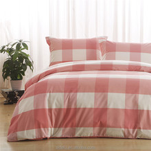 Home Use Yarn Dyed Check Design 100% Cotton Quilt Cover Plaid Bedding Set