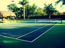 Ourdoor rubber tile tennis court flooring material