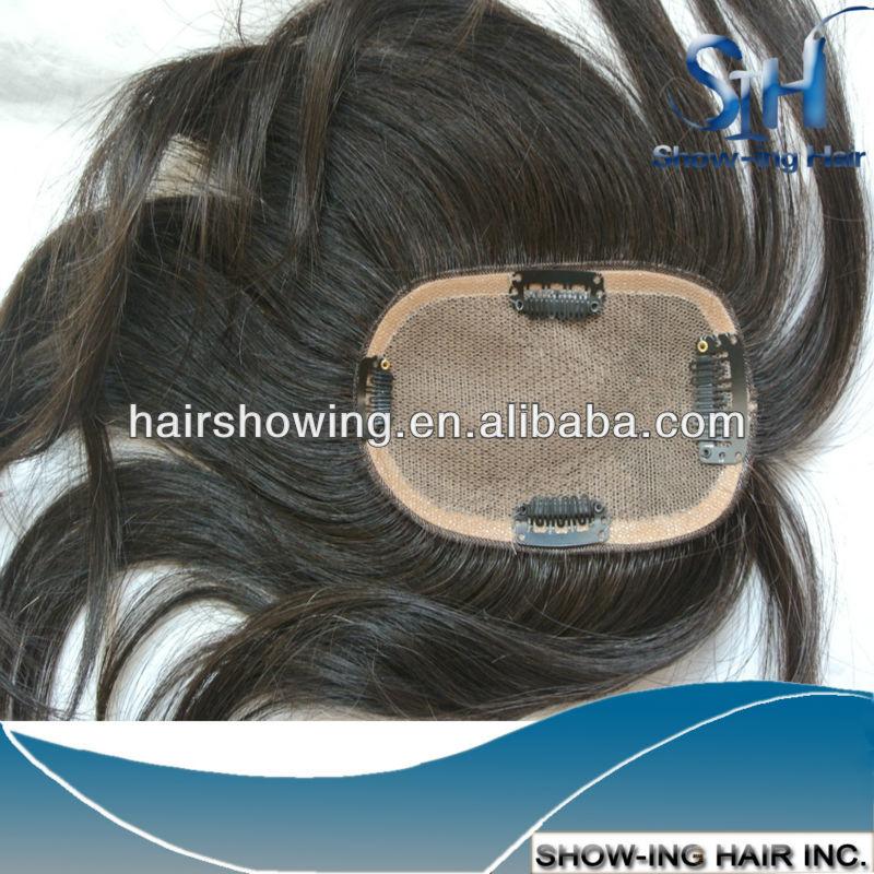 Grade AAAA Indian human hair replacement systems