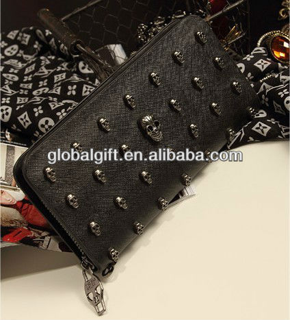 leather skull wallets wholesale