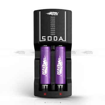New rapid battery charger made in china Efest SODA dual battery charger compatible with usb car charger