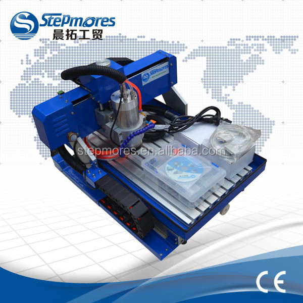 Aluminum casting 1500w desktop cnc router/ mini cnc engraving machine 3040