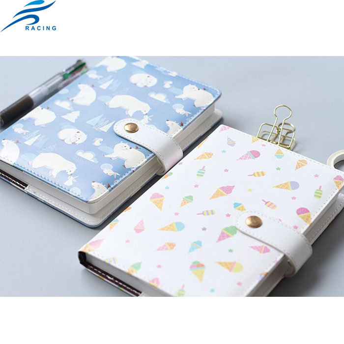 promotion small MOQ animal cartoon soft leather cover notebook custom