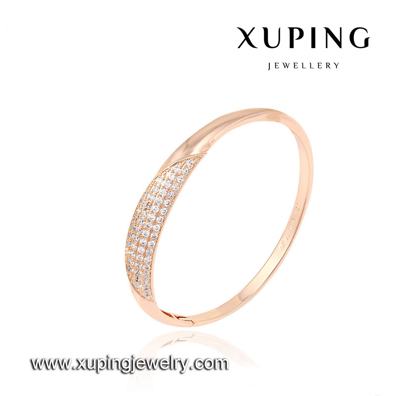 Fashion charm love latest design daily wear single stand designs rose gold bangle
