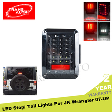 Black Smoke Off Road Only 07-15 Jeep Wrangler LED Tail Lights