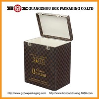 Rectangular black mdf wooden wine box plans