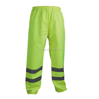 High Visibility reflective safety Rain Trousers Waterproof work pants Yellow