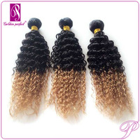 Two Tone Colors Synthetic Curly Hair Weave