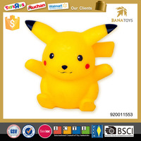 Funny pokemon figure toys with 3d light and music