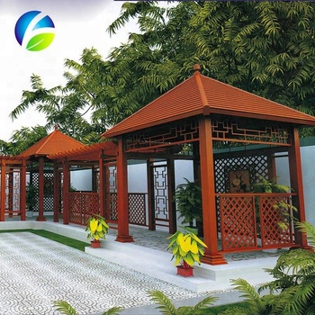 HDPE wooden outdoor pavilion with good quality and reasonable price