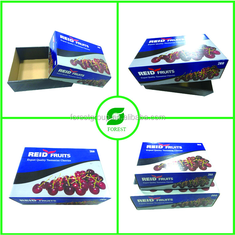 Fruit carton box cherry customized 24 hours design