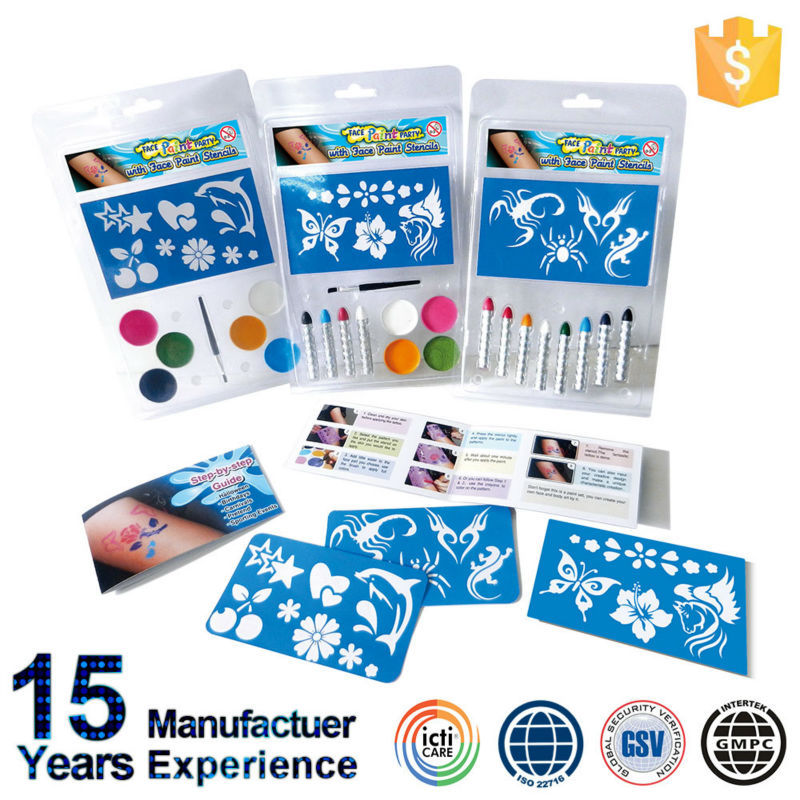 China Oem Professional Face Painting Kits With Beautiful Tattoo
