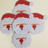 X Mas Santa Claus Head Iron