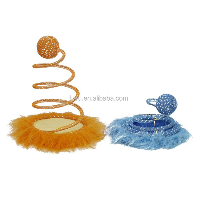 Fashion Creative Spiral Ball with scratching board and Funny Pet Cat Toys