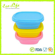 960ML Portable Silicone Folding Lunch Box, Food Warmer Steamer Lunch Box