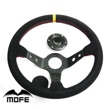 MOFE Racing 90mm deep dish 350mm leather steering wheel