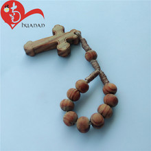 Customized Olive Wood Round Beads Finger Rosary