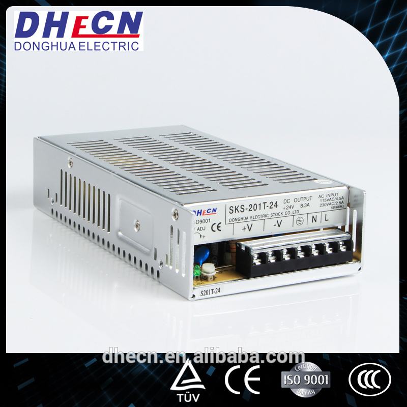 2016 New 24V 8A Switching Power Supply for LED Products (HS-201T-24)
