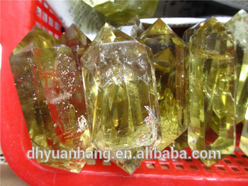 rare nice good quality natural citrine quartz crystal double terminated points,double terminated quartz crystals