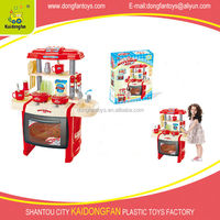 Battery operated plastic kitchen toy with light and sound, kitchen toys with accessories