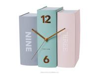 Decorative OEM Colorful book shape cheap table book clock