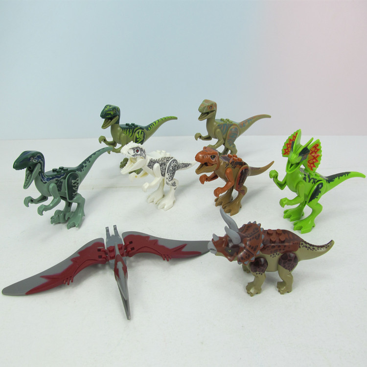Fashion Dinosaurs Assembled Small Building Blocks Education Puzzle 8 Style Creative DIY Child Toy