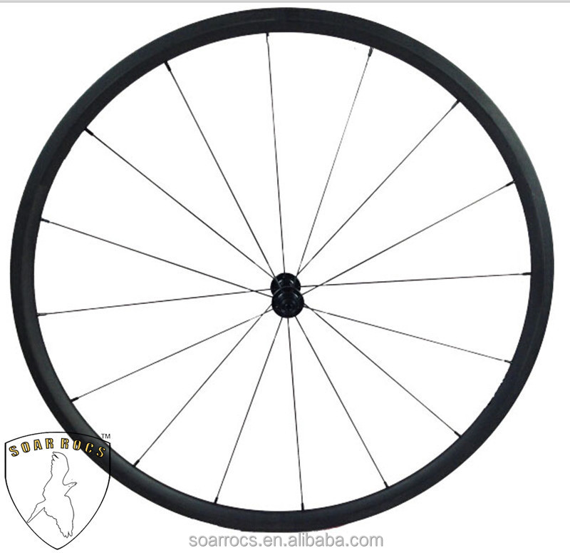 factory whole sale ultrral light wheels racing bicycle wheelset ruedas carbono wheels 24mm clincher 20.5mm width bicycle wheels