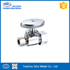 3 Way Angle Valve Chrome Plated