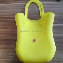 fashion latest silicone young lady handbag