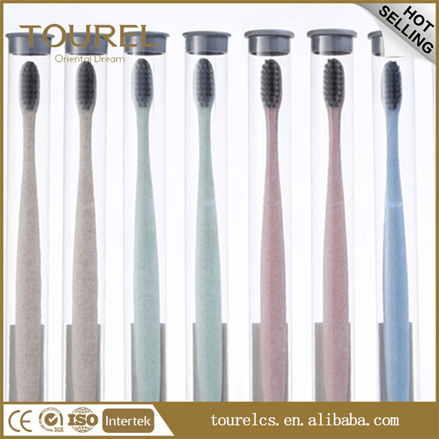 Biodegradable wholesale bamboo toothbrush yangzhou hotel toothbrush