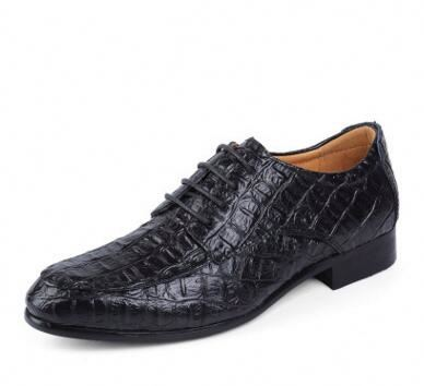 wholesale summer breathable men business genuine alligator shoes