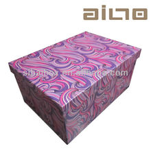 fancy pretty luxury decorative recyclable paper storage boxes with lids