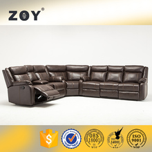 ZOY-7018A Leather relax comfortable recliner corner in american style