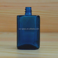 Stock rectangle glass dropper bottle with child and tamper evident cap
