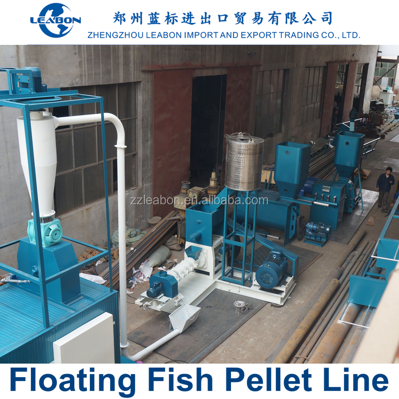 Water Floating Fish Feed Pellet Pressing Line