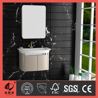 800MM Simple golden color PVC bathroom cabinet 1043