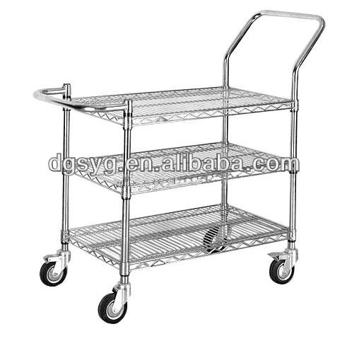 ESD Chrome plated trolley for electornic industrial or household-12 Years Professional Manufacturer