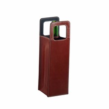 Wholesale leather wine tote gift bag