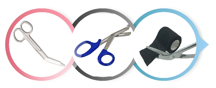 Medical colorful Bandage Scissors with logo