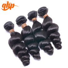 QHP 5A Wholesale Virgin Cambodian Loose Curly Hair Wefts
