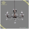 Hot sale Classic CE lighting 3lights E14 wrought iron crystal chandelier