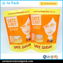 Custom printed resealable cookie plastic packaging bags