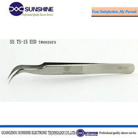 ts-15white color anti-static ESD stainless steel tweezer for girl shaped tweezers