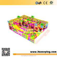 CE certified Pink Candy Land Indoor Modular Soft Playground with Trampoline Slide and Ball Pool for Small Space Play Area