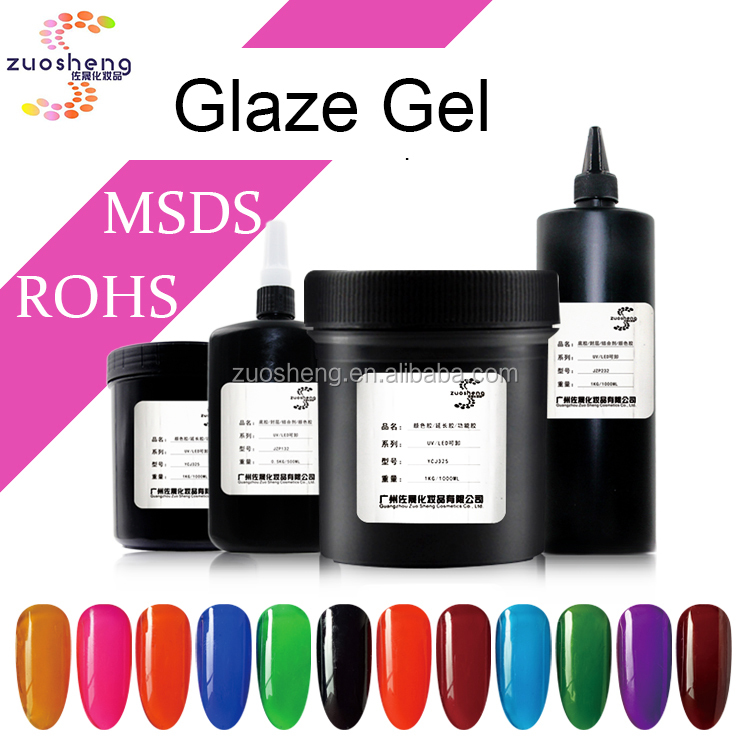 hot fashion bulk package glaze gel pure color uv gel supplier for nail