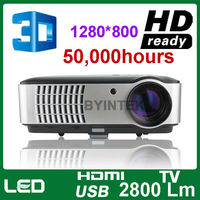 200 inch screen home theater full HD 3D LED multimedia video digital LCD projector proyector beamer