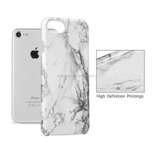 Factory directly for iphone 7 plus marble patten hard plastic case back cover skin, white & black