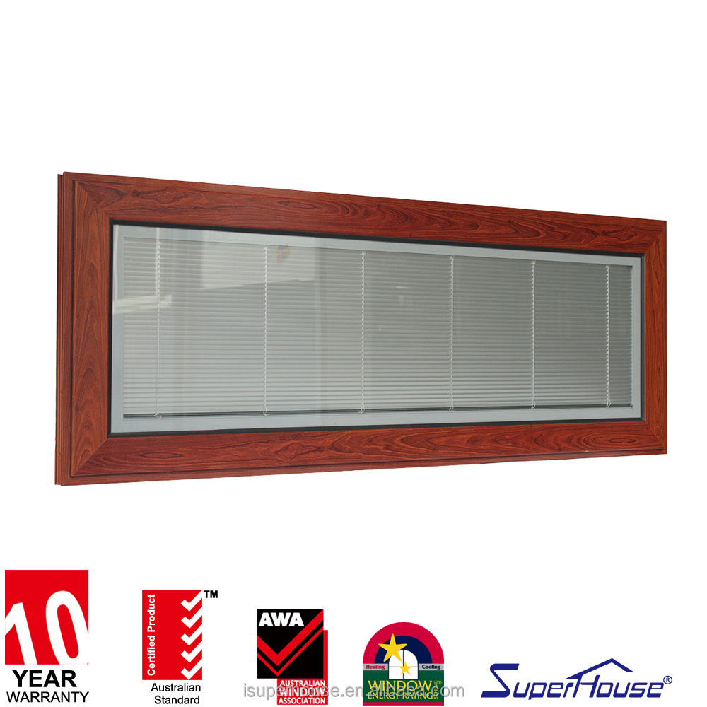 top hung wooden sash louvered windows with blinds aluminum